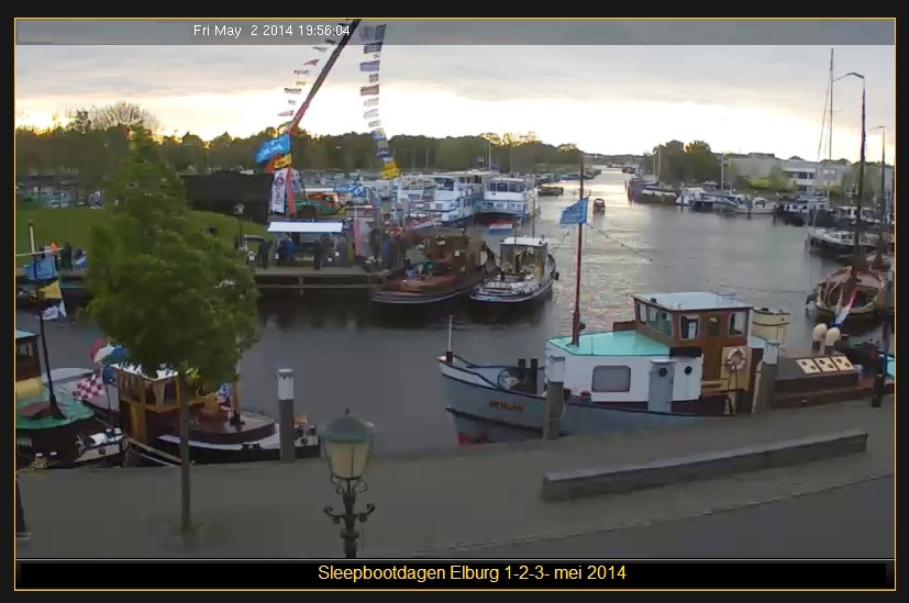 Fot van webcam haven cafe de Baars.