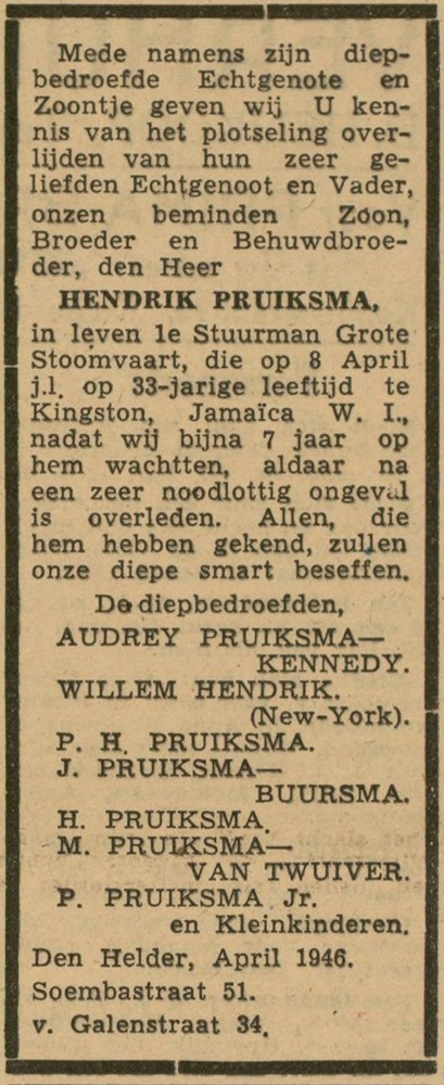 Hendrik Pruiksma - Heldersche Courant 20 april 1946.jpg