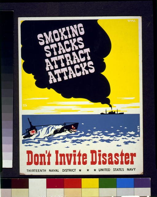 WW2-poster - Smoking stacks attract1941.jpg